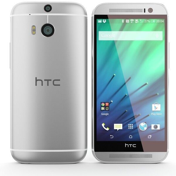 Htc One - HTC One M8 32GB Silver GSM Unlocked Android 4G LTE Smartphone With Extras