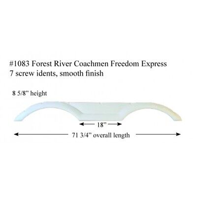 Forest River Coachmen Freedom Express RV Fender Skirt FIBERGLASS #1083 Polar