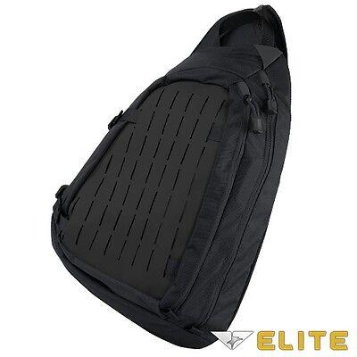 Condor 111075 BLACK Tactical Agent Covert Solo Shoulder Sling Backpack Pack