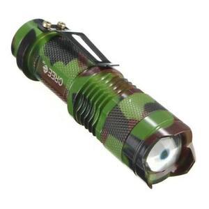 Flashlight cree camo 7w 5000lmns  zoom strobe low high