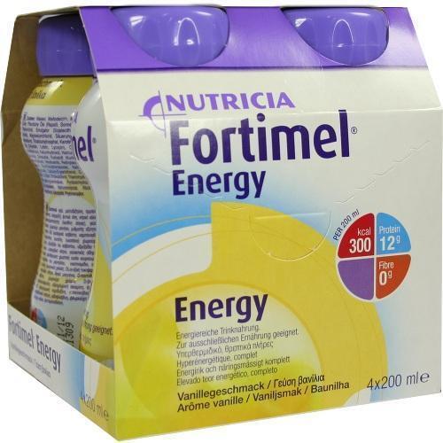 FORTIMEL Energy Vanillegeschmack 4X200 ml