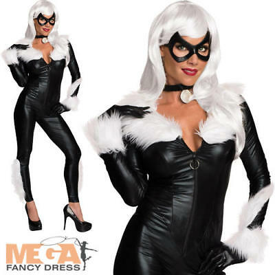 Marvel Black Cat Ladies Fancy Dress Adults Womens Superhero Costume Outfit New ()