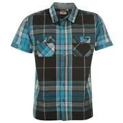 Mens Short Sleeve Check Shirts