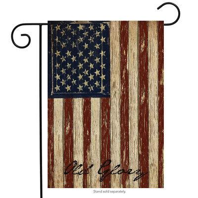 Briarwood Lane Old Glory Patriotic Garden Flag Vintage Ameri