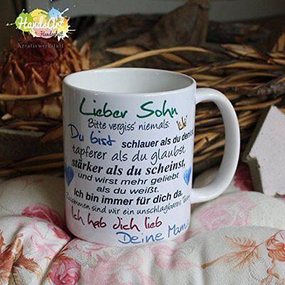Valentin Kinder (Tasse / Lieber Sohn- Deine Mama/ Geschenk Kinder Weihnachten Valentinstag)