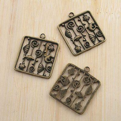 6pcs antiqued bronze barbecue design pendant G1463