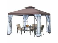 Brand new Outsunny Gazebo Coffee 3m x 3m with mesh sides, Never taken out of box