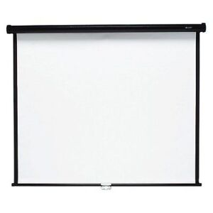 70 in by 70 in Quartet Matte White manual projection screen