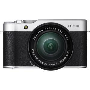 Fujifilm X-A10 Mirrorless Kit Silver w/ XC 16-50mm f/3.5-5.6 II