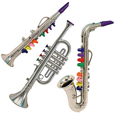 Horn Hooter Musical Toy by ALEX TOY Wood Trumpet Toy for Toddlers /& Kids