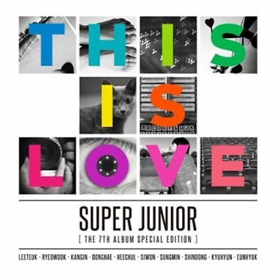 SUPER JUNIOR [THIS IS LOVE] 7th Album Special Edition Random Cover CD+FotoBuch