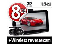 7'' Truck & Car GPS Navigation System+Wireless Reverse Camera+8GB+EU UK POI Maps With 4 Free Gifts