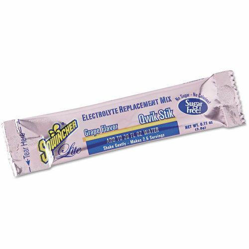 Sqwincher Zero 60107 Qwik Stik Powdered Concentrate Grape 50/Bag Endurance & Energy Bars, Drinks & Pills