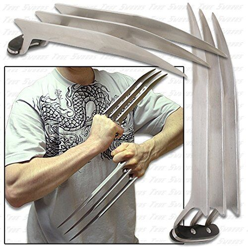 "1 Pair (2 pcs) Full Size 9.45"" Stainless Steel Wolverine Wolf Claws 2 lbs"