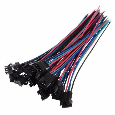 10 Sets 15cm 4 Pin Jst Sm-2.54 22awg Wire Male Female Connectors With Wire Be