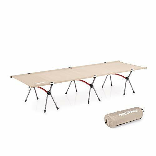 Folding Camping Cot – Deluxe Collapsible Single Person Bed for Indoor & Khaki