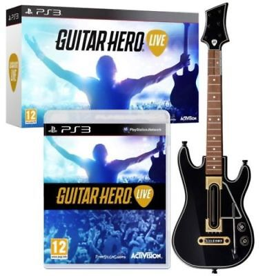 Guitar Hero Live PS3 Bundle Game W/ Guitar Controller Dongle NIB By Activision