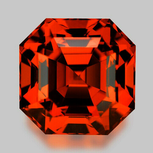 7.07CTS GORGEOUS ASSCHER CUT NATURAL SPESSARTITE GARNET VIDEO IN DESCRIPTION