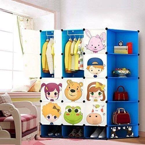 Kids Wardrobe Childrens Storage Cabinet Bo Toy Gift