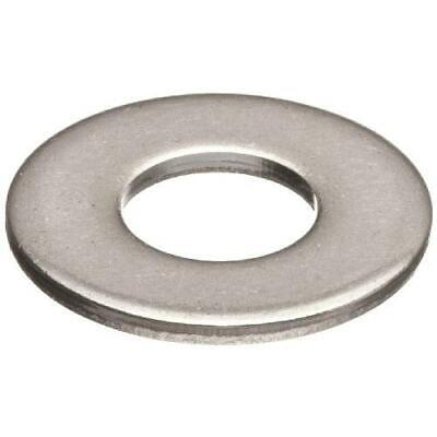 """100 Qty 1/4"""" Stainless Steel SAE Flat Finish Washers"""