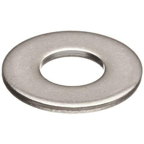 "100 Qty 1/4"" Stainless Steel SAE Flat Finish Washers (BCP669)"