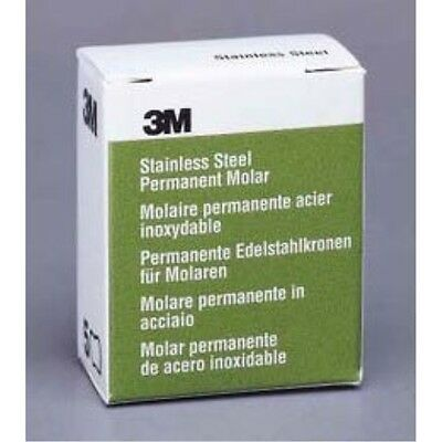 3m Espe 2 Upper Left Molar Stainless Steel Crown Form - Box Of 5 Crowns 6ul2