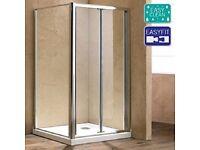 Matrix 1200mm Bi-fold Shower Door 6mm Glass