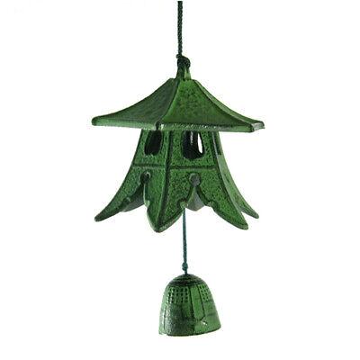 Wind Bell - Cast Iron Green Lantern Japanese Furin Windchime