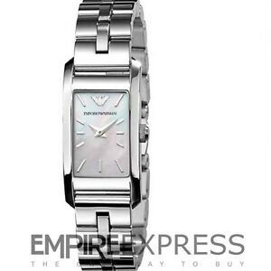NEW-LADIES-EMPORIO-ARMANI-MOP-DIAL-CLASSIC-WATCH-AR0733-RRP-199