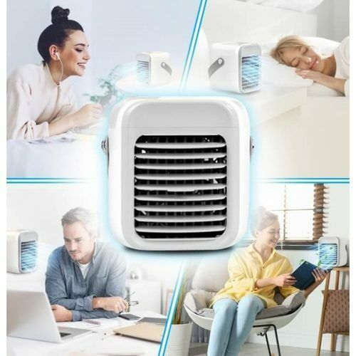 Portable USB Personal Space Mini Air Conditioner Cooler 7 Changeable LED Colors