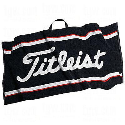 "New Titleist Players Golf Towel 16"" x 32"" Black White Red TA2ACPTWL"