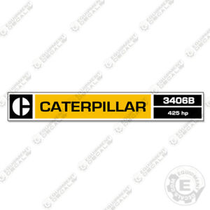 Caterpillar 3406B Decal Kit Equipment Decals