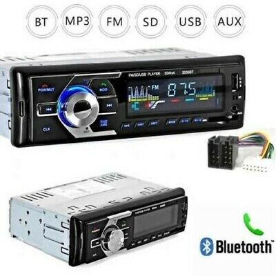 STEREO AUTO BLUETOOTH AUTORADIO VIVAVOCE RADIO FM MP3 USB AUX SD CARD 180W