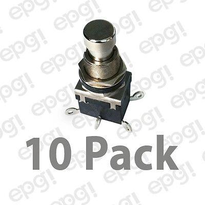 Dpdt Onon Metal Button Push Button Switch 4amps 125vac 66-2462-10pk