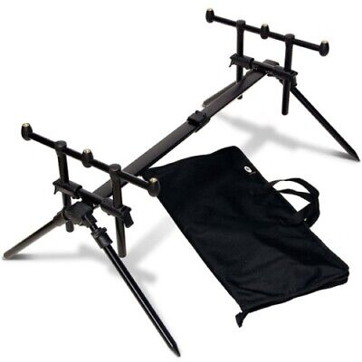 Carp Fishing Rod Pod NGT Quickfish Adjustable 3 Rod with Carry Case -