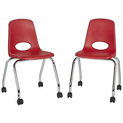Fdp 18 Mobile School Chair With Wheels For Kids Teens And Adults Ergonomic S...
