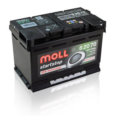 Moll start stop EFB 82070 PREMIUM Autobatterie Starterbatterie 70Ah 12V *NEU* online kaufen