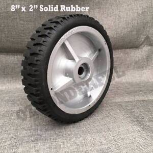 "8"" x 2"" 500 KG Solid Rubber Lawn Mower Wheel Tire Inner Size 5/8"" Epping Whittlesea Area Preview"