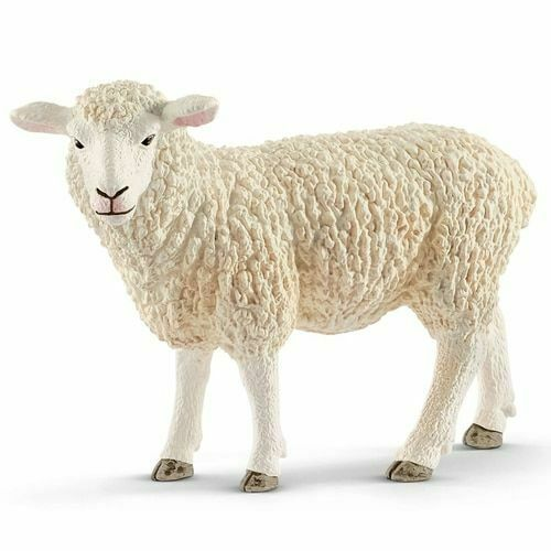 <><  Sheep 13882 ewe sheep strong tough looking Schleich Anywhere