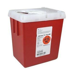 Kendall Sharps Needle Container, Large, 2.2 Quart, 1522SA, Tatoo, 2 Quart, NEW