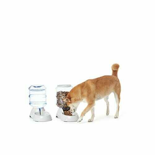 SMALL 2-in-1 Waterer and Feeder Gravity Pet Food Feeder and Water Dispensers