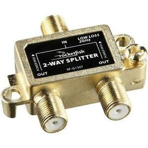 Rocketfish RF-G1307-C 2-Way Coaxial Splitter (Open Box)