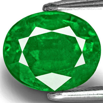 ZAMBIA Emerald 3.49 Cts Natural Untreated Rich Velvety Royal Green Oval