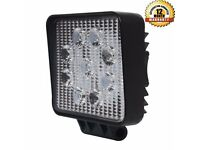 27W LED Square Work Light Lamp Jeep Off Road Forklift /Car Spot Flood