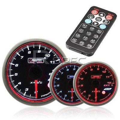 Prosport 52mm Exhaust Gas Temperature Gauge Smoked Stepper with Remote