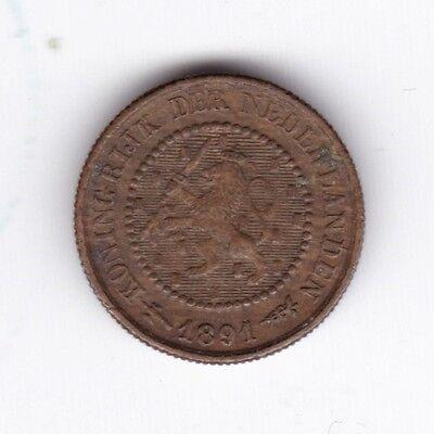 1891 Netherlands 1/2 Cent | Pennies2Pounds