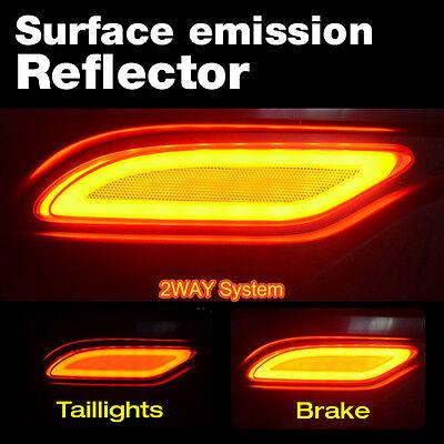 LED Rear Bumper Emitting Reflector Light Lamp For HYUNDAI 2013-2015 Santa Fe DM