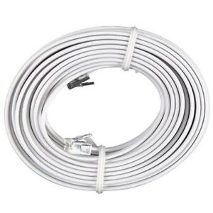 100-FT-Feet-RJ11-4C-Modular-Telephone-Extension-Phone-Cord-Cable-Line-Wire-White