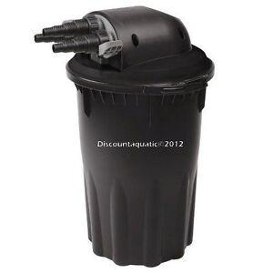 Pond pressured filter uv bio filter 6000gal easy clean for Easy clean pond filter