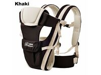Brand New Newborn Infant Baby Boy Carrier Breathable Ergonomic Adjustable Wrap Sling KHAKI